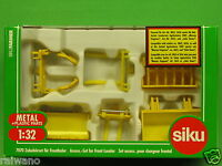 Siku 7070 Zubehörset Frontlader farbl. sort. für SIKU-Traktoren Maßstab 1 32