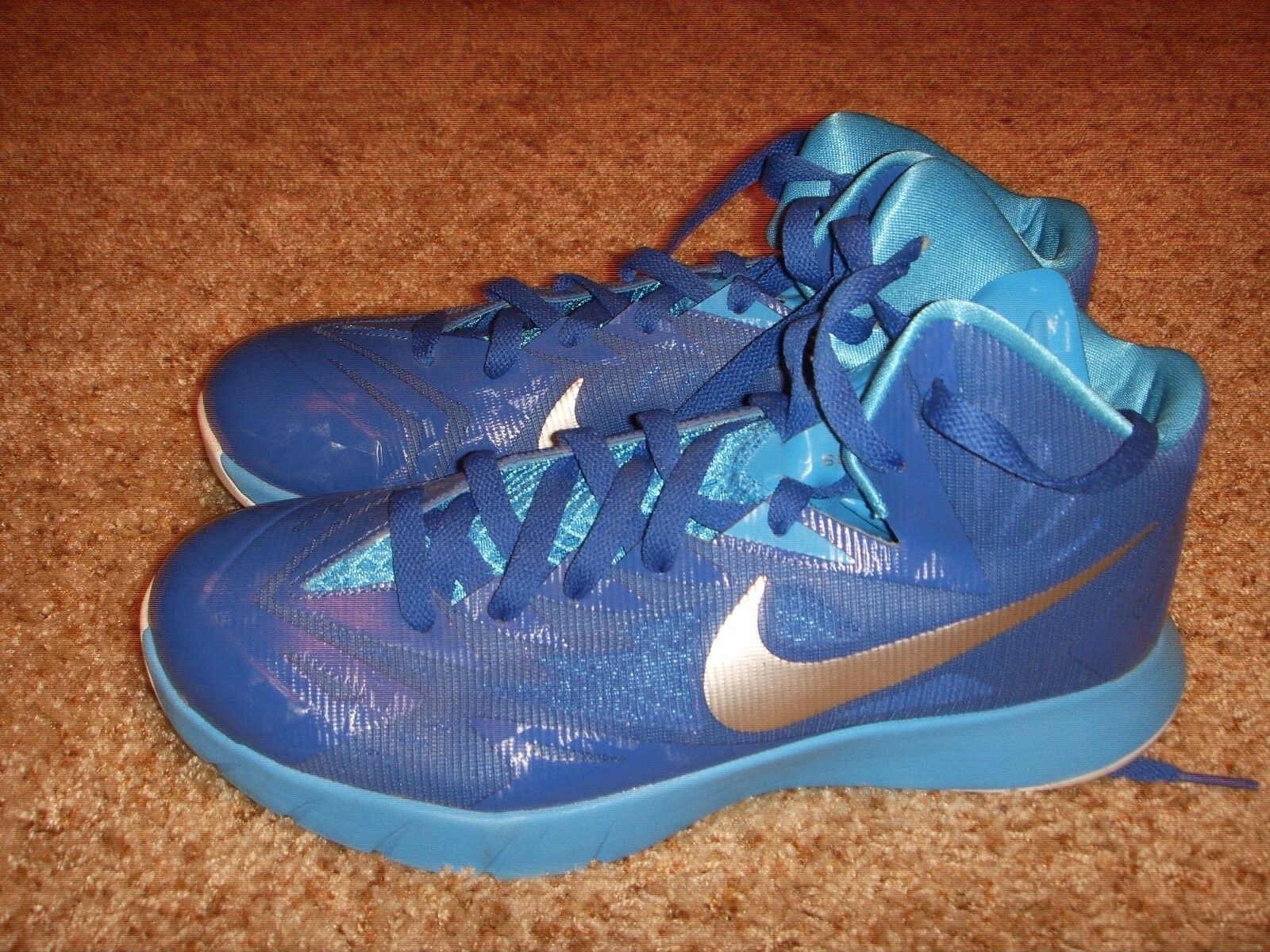Nike Lunar Hyperquickness TB Basketball Shoes 652775-406 Blue Mens Comfortable The most popular shoes for men and women