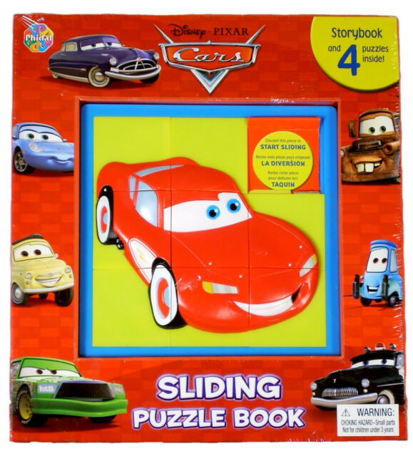 Disney Pixar Cars 2 sliding Puzzle Book Storybook /& 4 Puzzels  ***NEW IN PACK***
