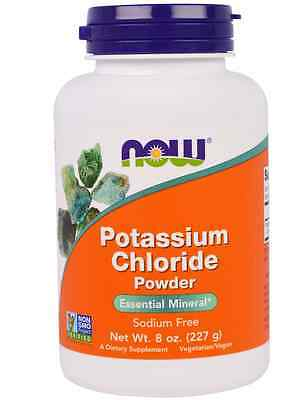 NEW NOW FOODS POTASSIUM CHLORIDE POWDER DIETARY SUPPLEMENT SODIUM FREE 227 g 8oz