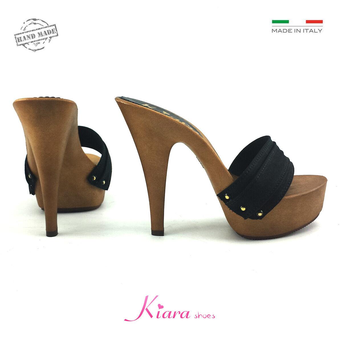 Zoccoli Neri - Base Mou - Scarpe Made in - Italy 35 al 42 - in Tacco 13 22af16