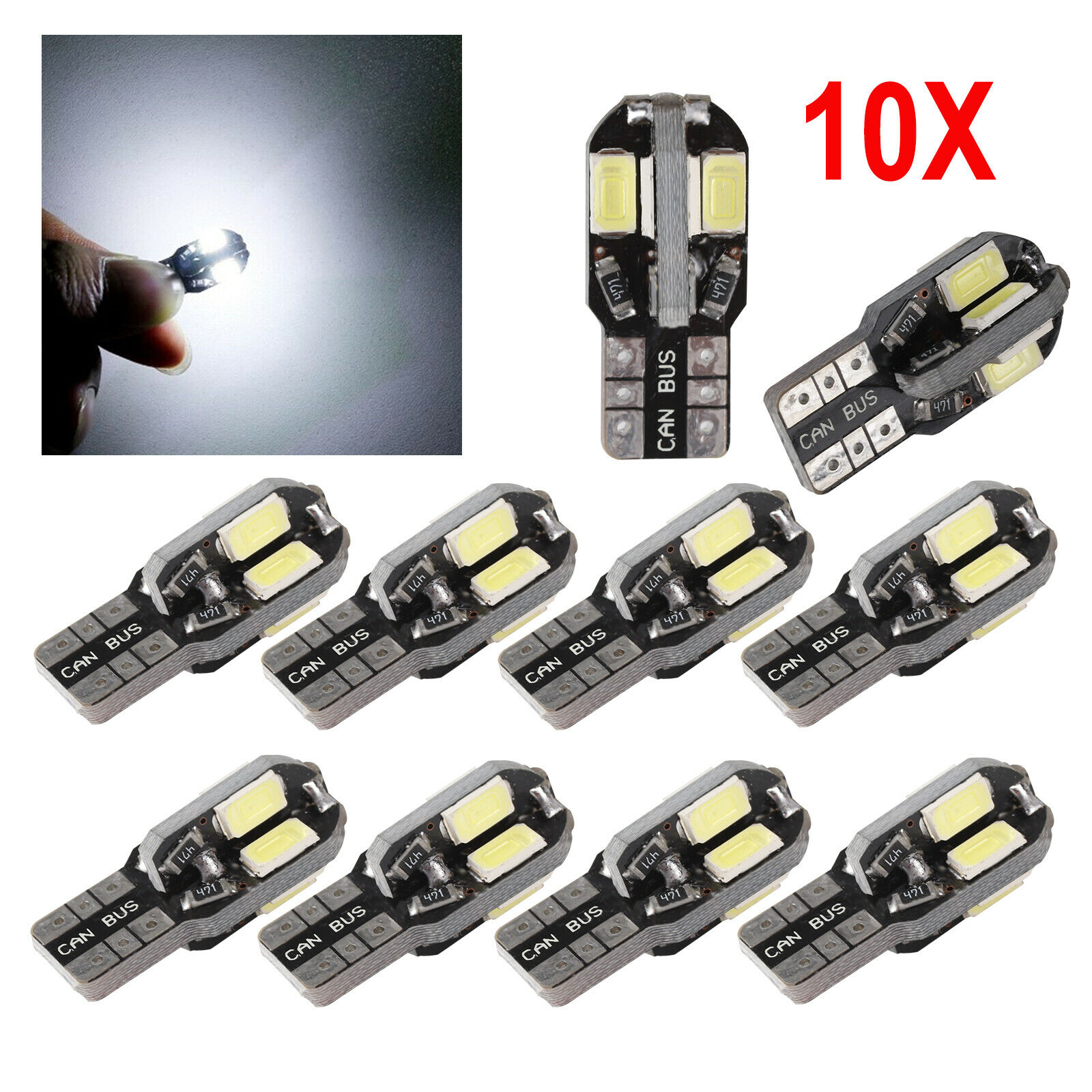 2x LED T10 168 Chip Glassockel Lampe 8 COB InnenraumBeleuchtung Deutsche Post