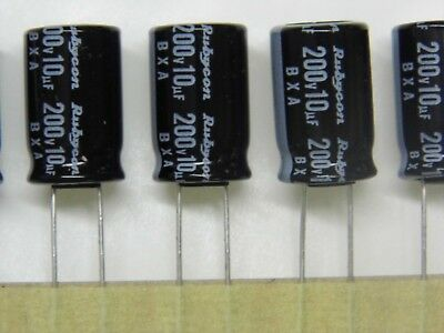 Lot 10 //condo condensateur chimique 16v 2200µF 2200UF 2200MF 2.2mF rubycon 105°C