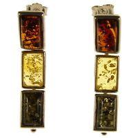 Baltic Amber Sterling Silver 925 Stud Drop Dangling Earrings Jewellery Jewelry