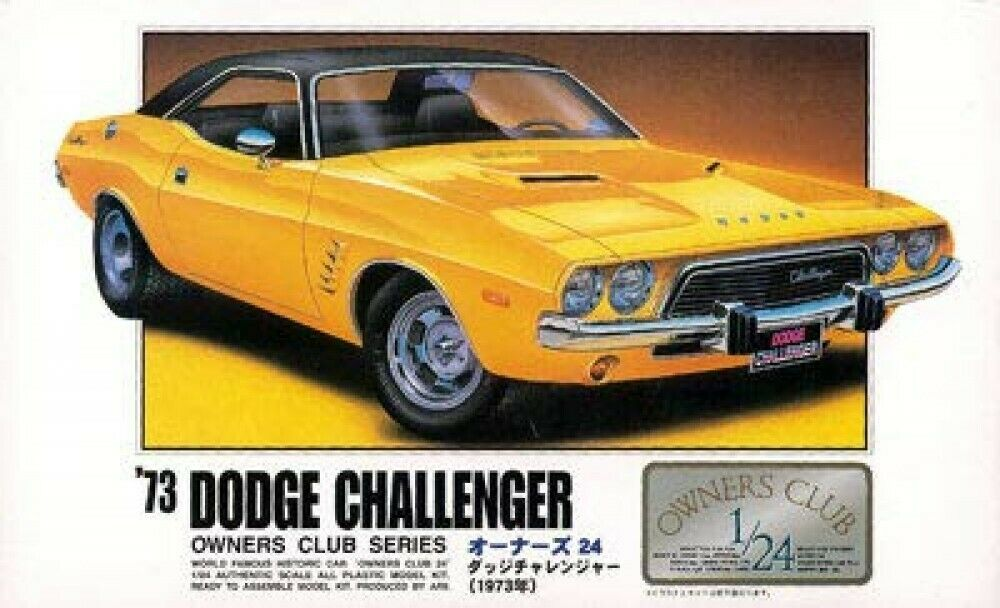 Arii Owners Verein 1 24 12 1973 Dodge Challenger 1 24 Maßstab Set Microace