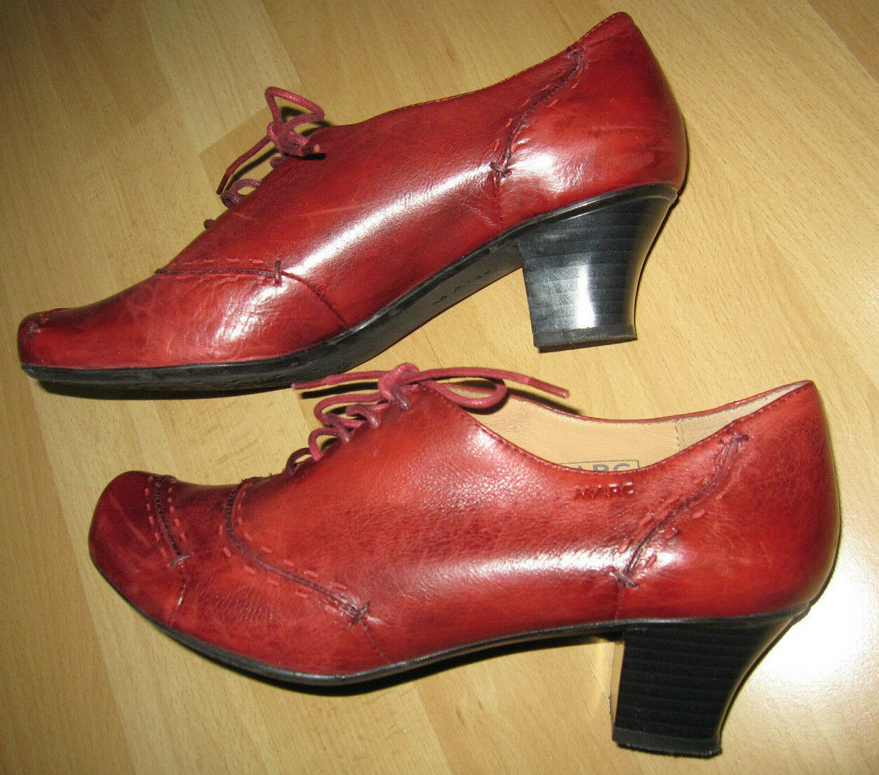 Damen Pumps halb-Schuhe mit Absatz  Marc Gr.39, Echtleder, Echtleder, Echtleder, rot, hochwertig 0564bc