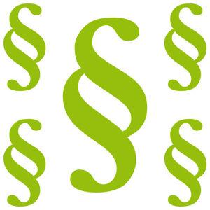 Paragraphe-Set-S-Vert-Signes-Symbole-Loi-Avocat-Kanzlei-Autocollant-Tatouage
