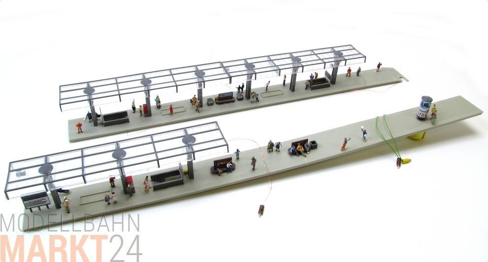 orden en línea Andén con varios personajes y vorbereitem luz celeste para eléctrico eléctrico eléctrico pista h0 1 87  tiendas minoristas