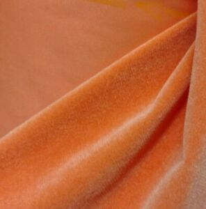 VELVET-tangerine-FABRIC-54-034-WIDE-SOLD-BY-YARD