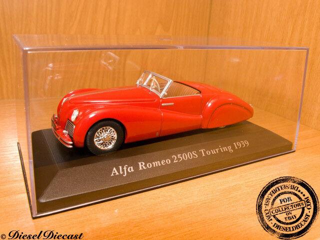 bienvenido a comprar ALFA-ROMEO 2500S 2500-S TOURING 1939 rojo rojo rojo 1 43 MINT     100% autentico