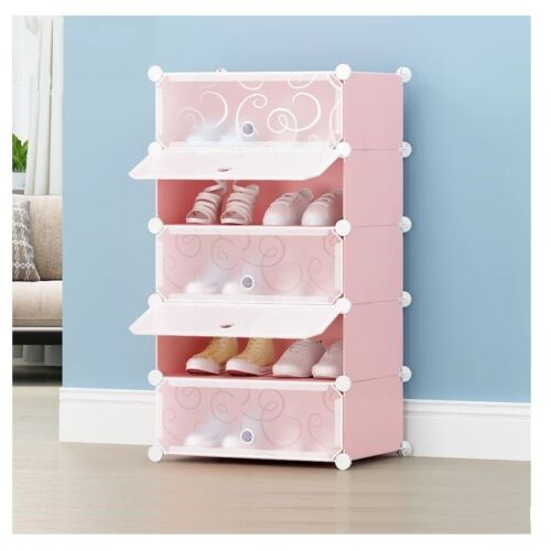 5 Tier Shoe Storage Home DIY Clothes Shelf Rack Stand Organiser Cabinet UK