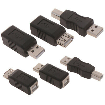 USB 2.0 Type A Male To B Male Printer Scanner Port Converter Adapter Connector