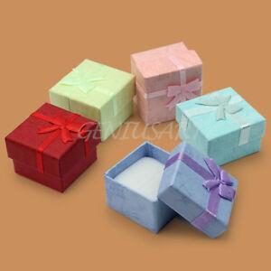 5-x-Geschenkkarton-Schmuck-Box-Etui-Schachtel-Kasten-Schmucketui-Ringetui-Neu