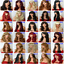 black-brown-blonde-long-wavy-straight-curly-with-fringe-cheap-womens-fashion-wig thumbnail 3