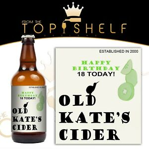 PERSONALISED STRAWBERRY /& LIME GIN BOTTLE LABEL BIRTHDAY ANY OCCASION GIFT