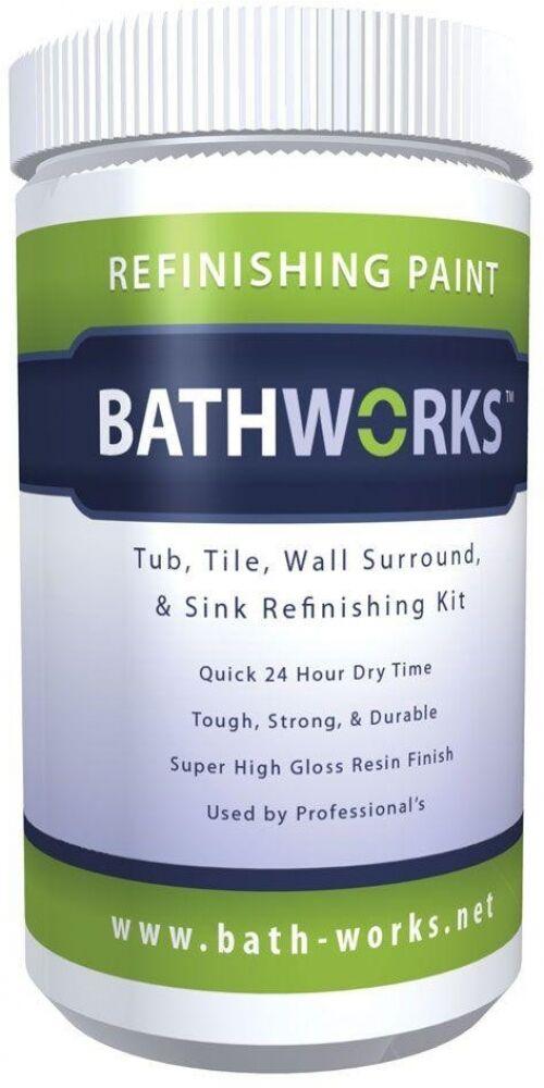Bathworks DIY Refinishing Kit 20 Oz Bathtub Tile Commercial Resin ...
