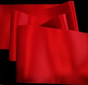 4-034-WIDE-SWISS-DOUBLE-FACE-SATIN-RIBBON-TRUE-RED-by-the-yard