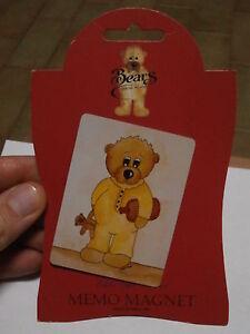 ** Rare refrigerator magnet SARAH JANE BEARS COLLECTION calamita da frigo orso