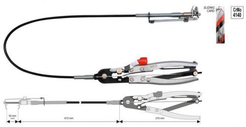 ca 876 mm Flexible Schlauchschellenzange Schlauchklemmzange Bowdenzug