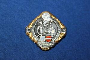 Kapselschützenverband Wien Niederösterreich 1932 Silber Orden 1 Sanft Nr.3927 Klass Erfrischung