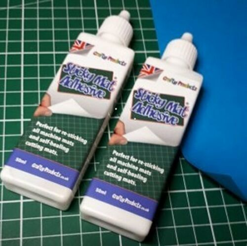 2 BOTTLES of Sticky Mat Adhesive by CRAFTY PRODUCTS