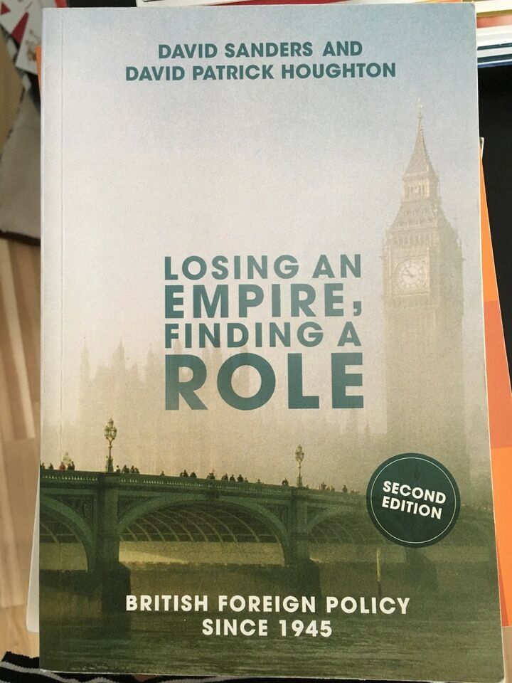 Losing an empire, finding a role, David Sanders