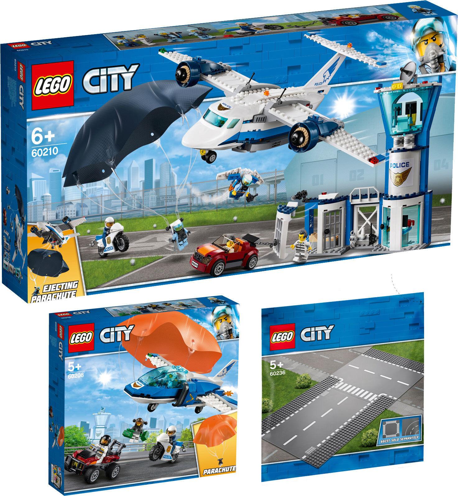 LEGO CITY POLIZIA base da aviatore 60210 60208 60236 appena e T n1 19