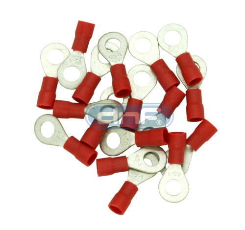 200 PACK 22-18 GAUGE AWG RED RING TERMINALS ELECTRICAL WIRE CONNECTORS CRIMP #10