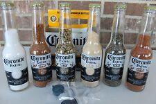 CORONA BBQ 6 PACK SALT PEPPER SHAKER SEASONING BOTTLE CAP 7 oz CORONITA BOTTLES