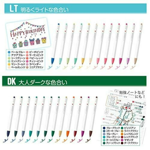 Zebra Aqueous Marker Pen Clickart LT 12 Color Set WYSS22-12CLT