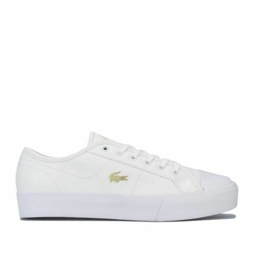 Women/'s Lacoste Ziane Plus Grand Lace up Low Cut Trainers in White