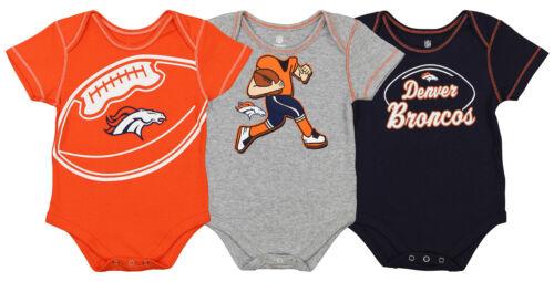 Outerstuff NFL Infant Denver Broncos 3 Pack Creeper Set