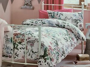 Details about Next Single Sz Forest Fawn Bed Set Girls Bedroom Floral Geo  Deer Pink Pillowcase
