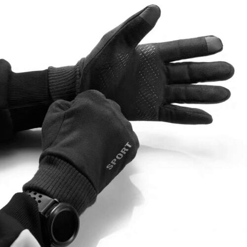 Winter Lauf Handschuhe Warm Thermo Wasserdicht Finger Touch Screen Windproof DE