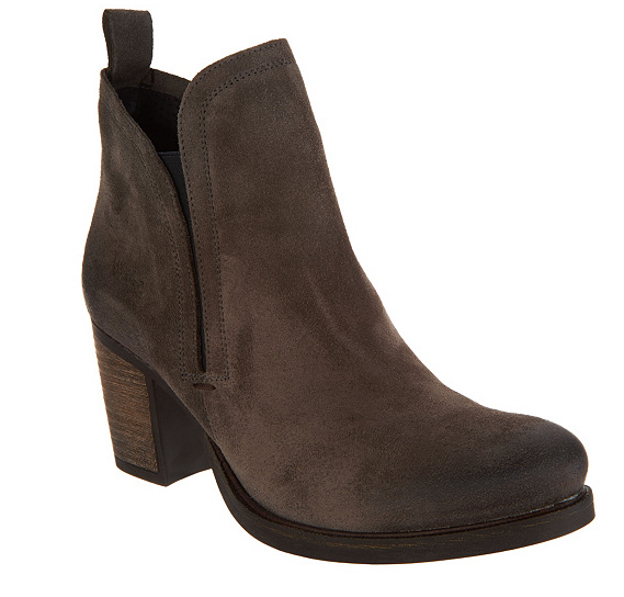 Bos. & Co. Water Resistent Suede Pull on Ankle Boots Belfield Grigio EU41 9.5-10