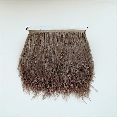 1/5 Yards Ostrich Feather Dyed Fringe Trim Home Hat Deco DIY Crafts Supplies