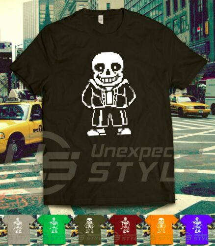 Undertale ispirato T SHIRT sans Skellington Gaming Twitch VAPORE TEE unisex Kids