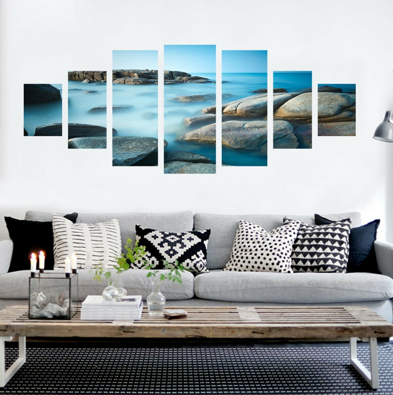 3D Stone River 76 Unframed Print Wall Paper Decal Wall Deco Indoor AJ Jenny