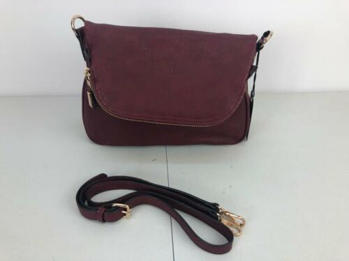 Moda Luxe Dandelion Purse Crossbody Saddle Hip Height Shoulder Bag Wine Red #050
