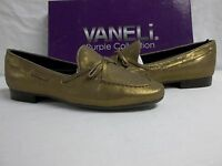 Vaneli Van Eli Purple Collection Sze 7 M Rodina Leather Bronze Womens Shoes