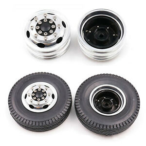 1Set-Metal-Front-Narrow-Hubs-Hexagon-Para-1-14-TAMIYA-RC-Container-Truck-Tractor
