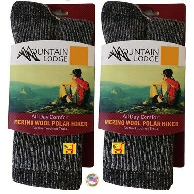 MOUNTAIN LODGE MERINO WOOL POLAR HIKER SOCKS MEN/'S AND WOMEN/'S VALUE PACKS