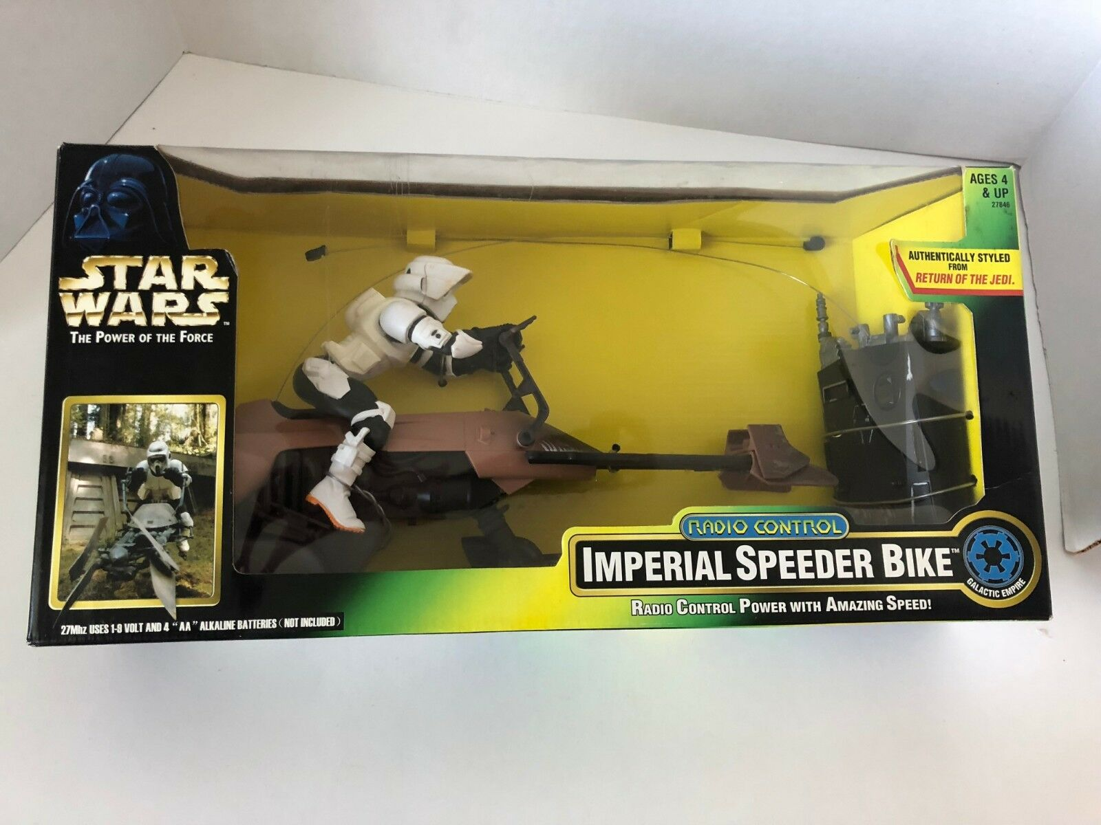 Star Wars IMPERIAL SPEEDER BIKE radio controller Kenner NEW