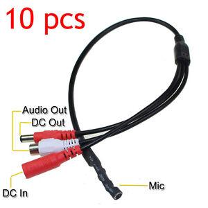 10Pcs-Sensitive-Mini-Audio-CCTV-Microphone-MIC-DC-12V-DVR-Security-Camer-System