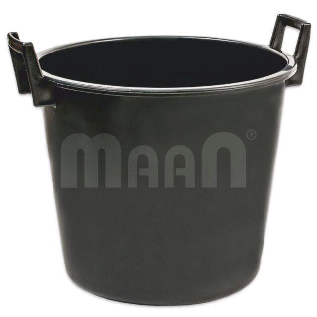 5 x Baueimer Mörteleimer Eimer Kübel Maurereimer 12 Liter schwarz