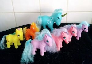 My-litle-pony-totsy-fakies-unicorn-blue-and-others-80s-retro-vintage-collectable