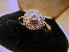 Beautiful Edwardian 18ct Gold & Diamond Cluster Ring