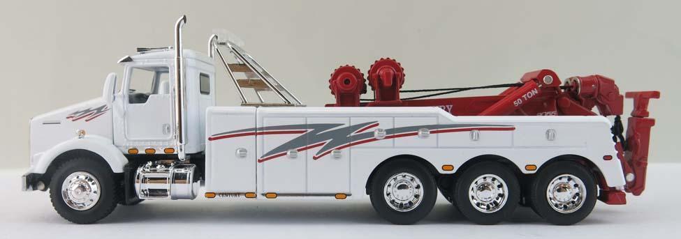 1/64 DCP Kenworth T800 Blanco Tri-eje con siglo 9055 grúa