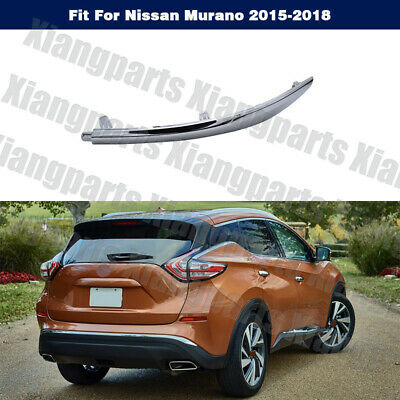 Rear Set Of 2 LH And RH Side Outer Chrome Bumper Molding Fits Nissan Murano
