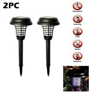 2pc Solar Outdoor Mosquito Killer Lamp Bug Insect Repellent Trap